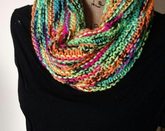 Leaning Tower Cowl, Multicolor Cowl, Leaning Tower Scarf, Multicolor Scarf