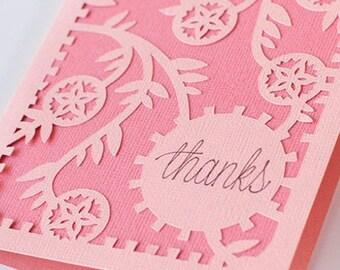 Custom Thank You card set.  Greeting cards.  Thank You card.  3d card