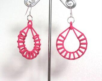 Hoop of Hoops - Pink 3D Printed Earrings