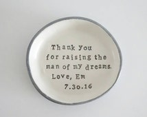 Mother of the groom gift, man of my dreams, mother of the bride, Personalised Ring dish, ring bowl, wedding gift, wedding day gifts, trinket