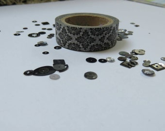 Black and white Baroque style washi tape 2