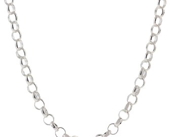 Italian Sterling Silver 3mm Rolo Chain Necklace