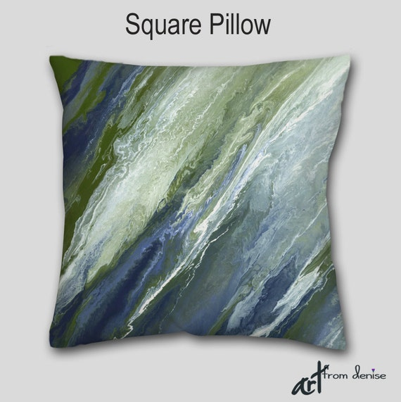 Throw Pillows For Sage Green Couch : Sage green navy blue Accent pillow Decorative throw pillow