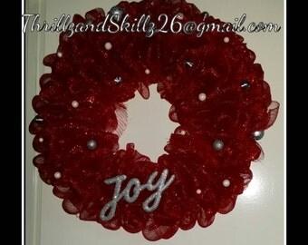 Joy Christmas Wreath