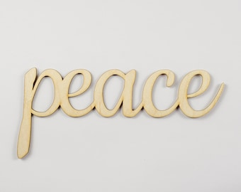 Peace wooden sign - Lasercut - cutout - wedding decoration - gift - chill out - calm - Yoga - hanger - door decor - Living room