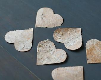 Birch Bark Heart Valentine Cards (6)