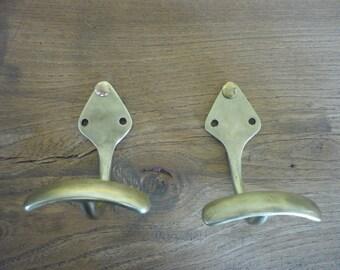 Solid brass hooks 1950s
