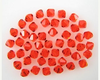 40% CLEARANCE 48 4mm Swarovski crystal bicone 5301 Hyacinth beads 7838