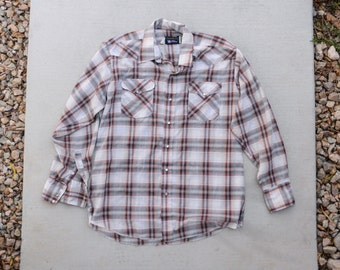 Vintage Mens Plaid Button down