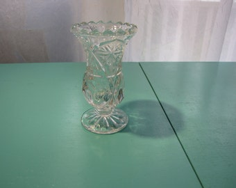 Small Crystal Bud Vase 4.5 inches