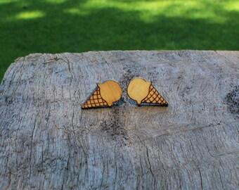 Ice Cream Timber Earrings