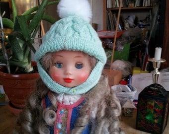 Pistachio baby winter cap