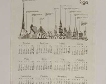 SOLD OUT 2016 Calendar with tallest towers and buildings of Riga, Latvia