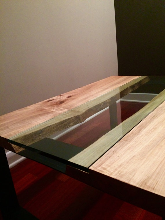 Live Edge Spalted Maple Coffee Table Modern Contemporary | Walnut Oak Reclaimed Custom Made Dining Table