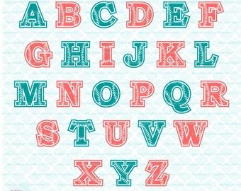Baseball font svg Baseball svg Monogram font svg Baseball Alphabet svg Baseball Letters svg dxf eps jpg svg files for Cricut Silhouette
