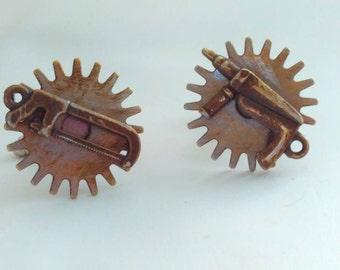 Handmade steampunk, Steampunk cufflinks, steampunk jewelry, handmade steampunk cufflinks, tools cufflinks, bridegroom, wedding cufflinks