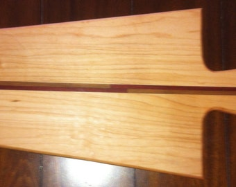 Maple Padouk and Walnut Cutting Board