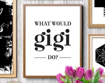 What would Gigi do? Printable fashion art fashion print fashion decor fashion office fashion printable art 5x7 print 8x10 print
