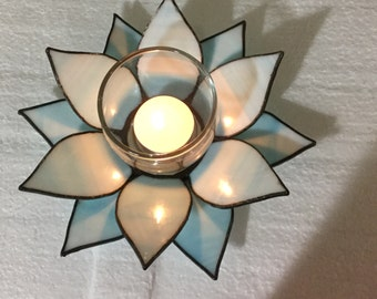 Stained Glass Tealight Candle Holder