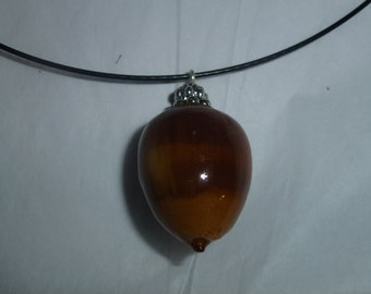 Fluffy Tail Acorn Necklace