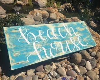 Beach House Sign, Beach Home Sign, Coastal Sign, Beach House Decor
