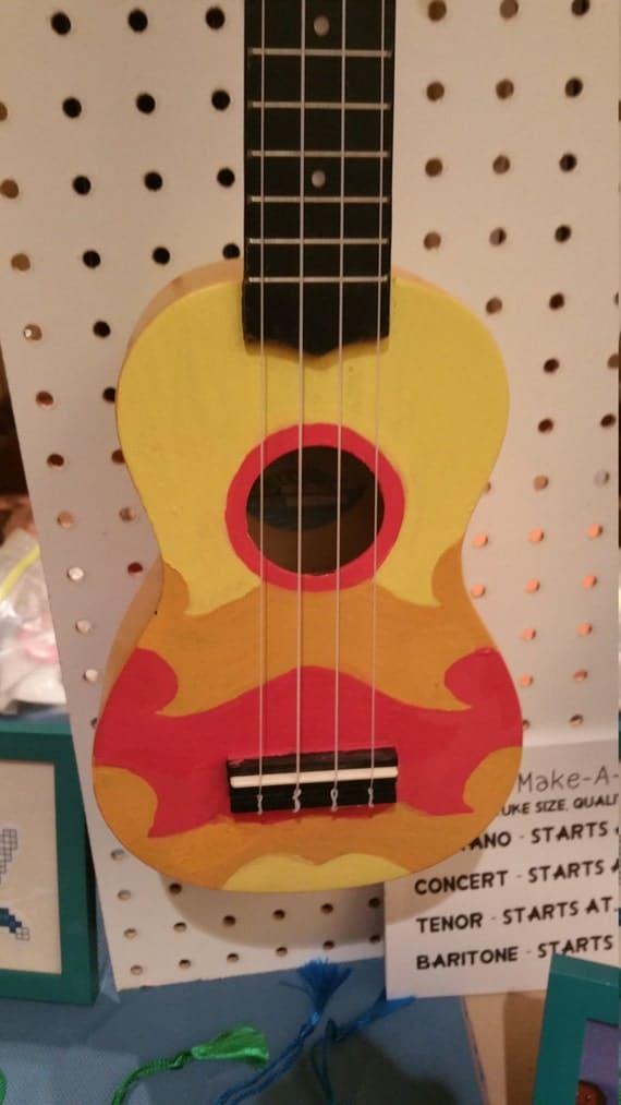 Bridesmaid dresses yellow ukulele