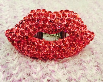 Lips Like Sugar in Pink Adjustable One of a Kind One Size Fits All Statement Ring