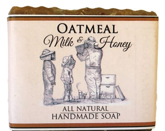 Handmade Soap  ~ Made with Organic Goats Milk, Oats and Honey ~ All Natural