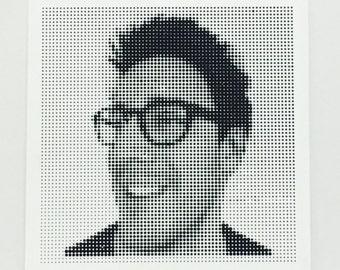 Personalised Halftone Portrait - 4 Tiles