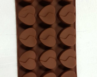 Taavi Layered Heart Silicone Mold (Candy, Chocolate, Ice cubes, finger jello, butter, wax) (T833)