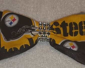 Pittsburg Steelers Hair Bow Barrette