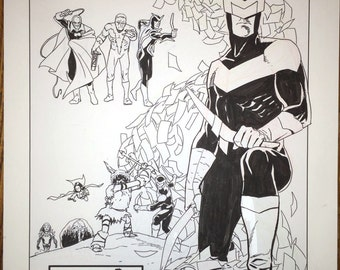 Superior Foes Original art. Splash page of Boomerang from issue 4, page 17