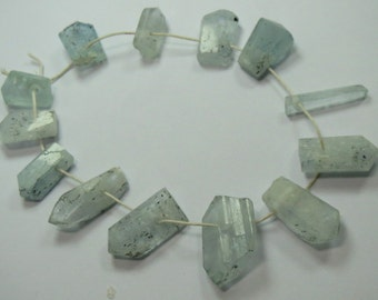 13 Pieces Aquamarine Crystals