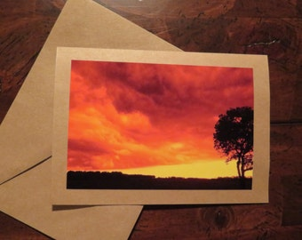 Orange Storm. Photo greeting / note card. Blank inside.