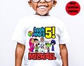 Teen Titans go Birthday Custom Cartoon T-shirt for Kids and Parents (all family members)