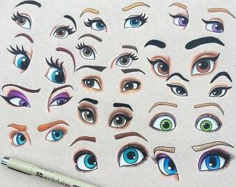 Disney Princess Eyes Print