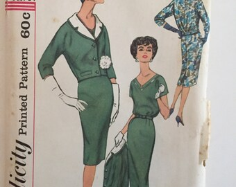 Simplicity 2846. Vintage sewing pattern for dress and jacket