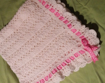 Beautiful White Baby Girl Afghan