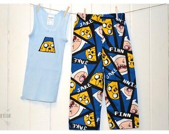 Adventure Time ~ Flannelette PJ Pants & Singlet Set