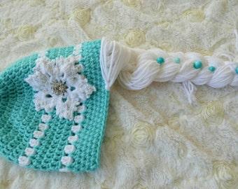 Elsa crochet hat