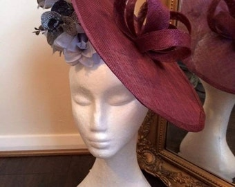 Chanix Millinery large disc fascinator