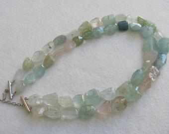 Raw Aquamarine Nugget Necklace