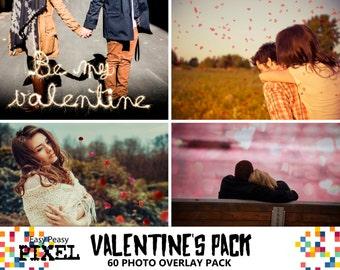 VALENTINE'S DAY OVERLAYS, Valentine's Photoshop Overlays, Photoshop Overlay, Overlay Pack, Hearts bokeh overlays, Sparklers overlays, Love