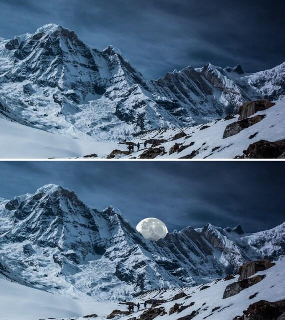 MOON Photoshop Overlays, Photoshop Overlays, Moons, Night