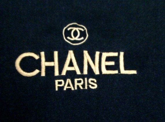 Rare Vintage Cc Chanel Paris T Shirt Embroidery Black