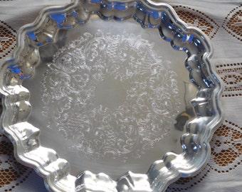 Leonard Silver Plate Round Serving Dish