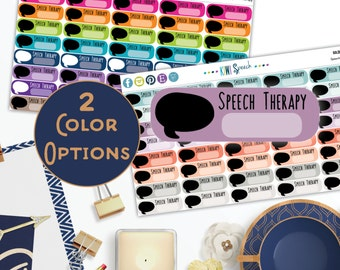 Speech Therapy Planner Stickers / NAA01