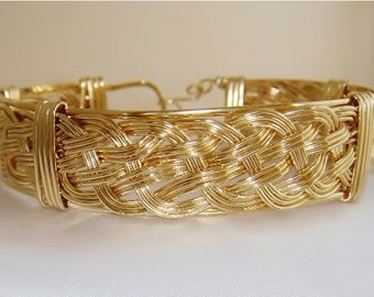 SKU-271 Gold Filled Triple Woven Bracelet