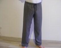 Mens Linen Lounge Pants / Pajamas pants / Yoga pants / Pyjamahose / Sleepwear / Homewear / 睡眠パンツ