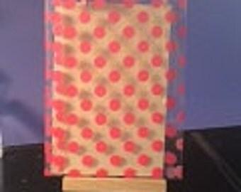 Plastic Pink Dot mini treat bags 6